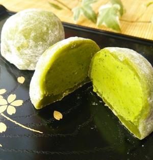 3分でできる求肥☆抹茶の生チョコ大福