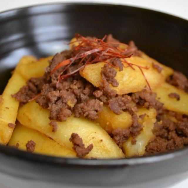 【フライドポテトで 肉じゃが風おかず】安くて簡単!