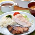 キッズアシスタント!里芋フライ。ブリの味醂焼き、塩鶏の和プレート晩ご飯。