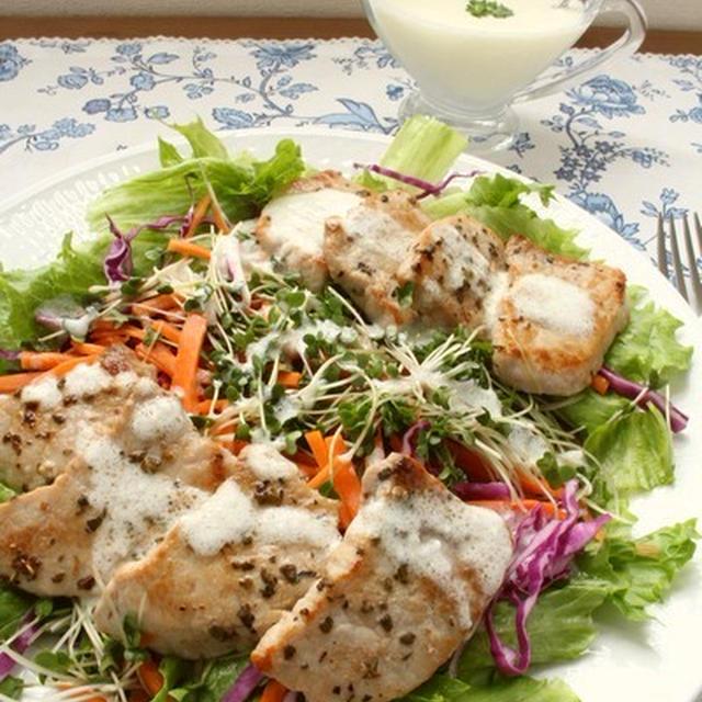ドイツ風 グリル豚肉と彩り野菜のサラダ