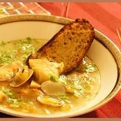 たらとあさりのスープ