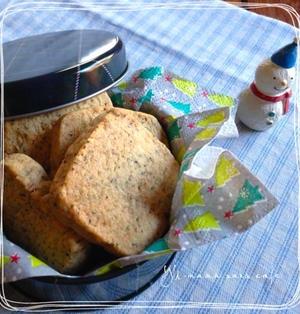 紅茶のアイスボックスクッキー♪片栗粉でサクサク!〜牛を買ってきました〜