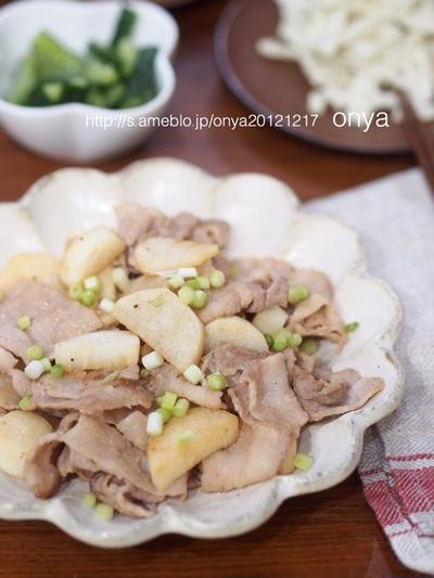 味付けは失敗なしのポン酢にお任せ♡10分deポン酢生姜の豚バラ長芋♡