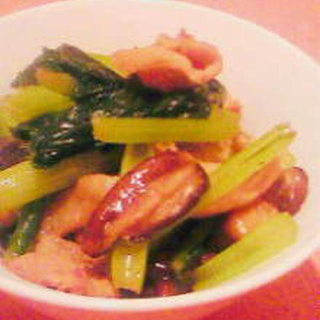 小松菜と豚肉のオイスター炒め