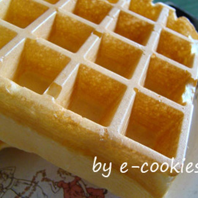 Waffle recipe (外はさくっと、中ふんわりの軽めのワッフル)