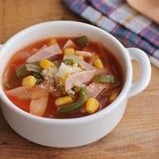 簡単・びっくり♪ピザ味トマトスープ