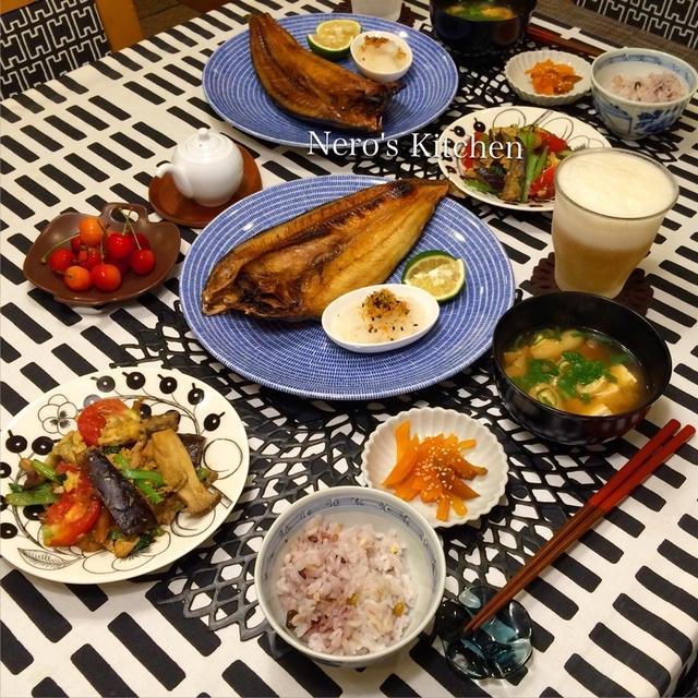 北海道産真ほっけで、焼魚定食♪