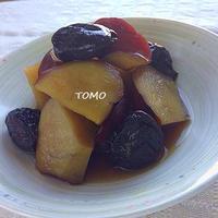 箸休めに♪さつま芋とプルーンの炊き合わせ