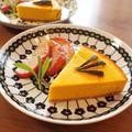 ハロウィンのデザートに♪ かぼちゃのチーズケーキ。