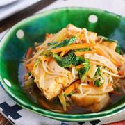 とろみづけ不要♪お肉がなくても大満足♪『厚揚げと白菜の中華あんかけ』