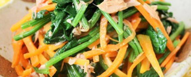 お弁当や副菜に!3ステップ以内でできるほうれん草の和え物レシピ