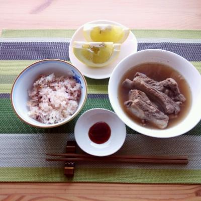 ■カルディのキットで、バクテー(肉骨茶)の朝ごはん