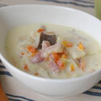 白菜とベーコンのクリームスープ