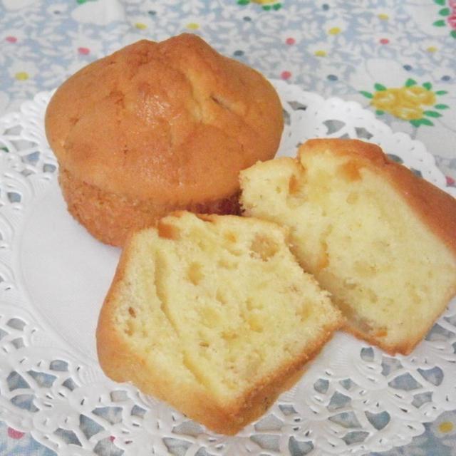 オレンジピールとチーズクリームのしっとりマフィン【湘南スプラウトさんのチーズクリーム入り】