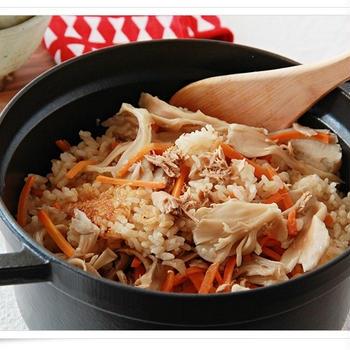【Allaboutレシピ】出汁いらず!ツナとまいたけの炊き込みご飯