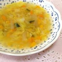 【レシピ♡】野菜とお水の甘み♡塩麹スープ