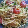トマトとツナのパスタ(圧力鍋で茹でる)