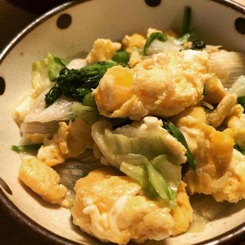 卵とレタスのふわふわ炒め