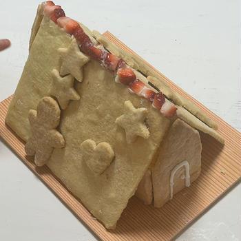 クリスマスには手作りのお菓子の家♡