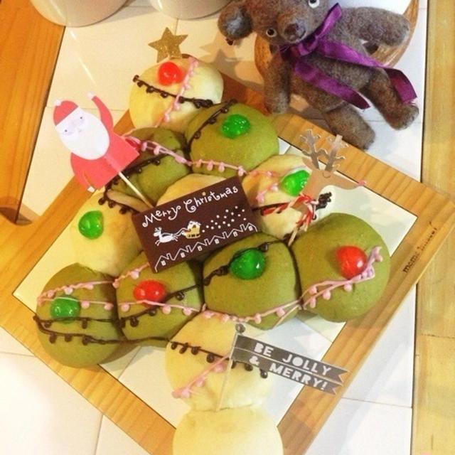 【クリスマス】クリスマスツリーのちぎりパン