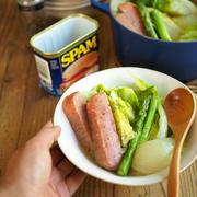 調味料はほぼ不使用、スパムと春キャベツの出汁ポトフ。