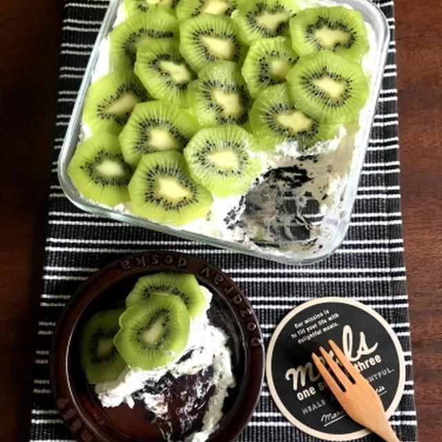 【材料5つ!簡単デザート】オーブン不要!キウイのスコップケーキ*cottaさんキウイ特集