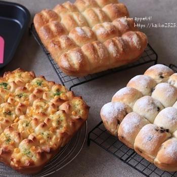 3種のちぎりパン