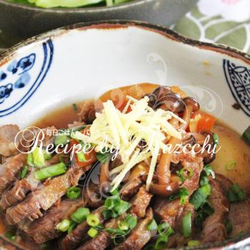 豚肉と野菜の生姜煮