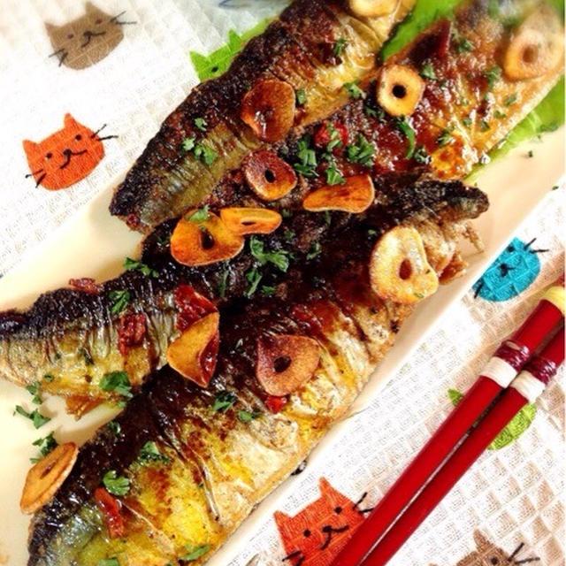 秋刀魚のアーリオオーリオ。