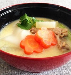 わが家の白味噌 お雑煮 レシピ☆シチュウのようにとろ~り濃厚♪