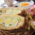 【レシピ】簡単★オシャレ★子供喜ぶ【フレンチトーストdeわんぱくサンド】