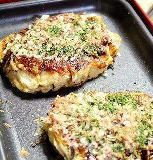 """白菜とひじき&しいたけで""""和のお好み焼き""""を作ろう♪週末はホットプレート大活躍!"""