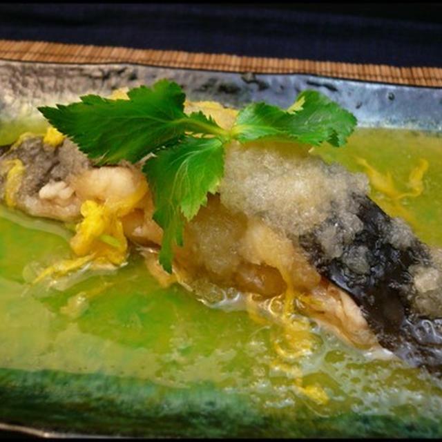 イシガレイの菊花おろし煮