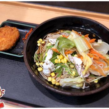 立ち蕎麦行脚「ゆで太郎錦糸公園前店の冷し肉野菜そば」