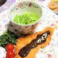 *春キャベツの瞬間蒸し&とんかつで晩御飯* by シロさん