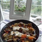 タイム風味の白身魚のアクアパッツア