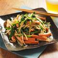 ニラと魚肉ソーセージのピリ辛オイスターソース炒め