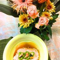 2色のソースで…豚ロース肉のソテー〜花と料理でハロウィンを楽しもう♪