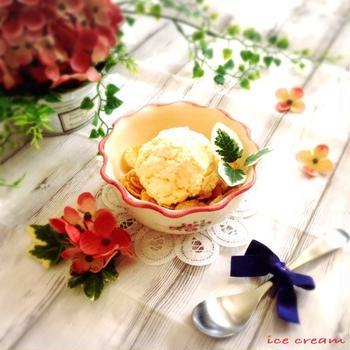 【レシピ】長時間冷やしても固くならない!!材料3つ‼︎蜂蜜アイスクリーム♪