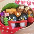 バレンタイン♡仲良しペンギン弁当♡♡