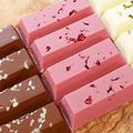 【セリアのシリコンモールドで作る】三色のチョコレート 【silicon mold】