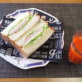 クラッシュした献立の再現☆ハムとチーズサンドイッチ♪☆♪☆♪