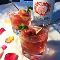 桃と林檎と薔薇のカクテル。