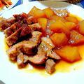 豚肩ロース肉と大根の炊き合わせ