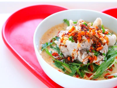 >【簡単】冷やし豆乳担々麺 豚しゃぶのせをお家にある食材で作るレシピ! by 和田 良美さん