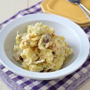 さつまいものバターヨーグルト和え。【調味は塩こしょう・作り置き・お弁当】と大根葉の作り置き。