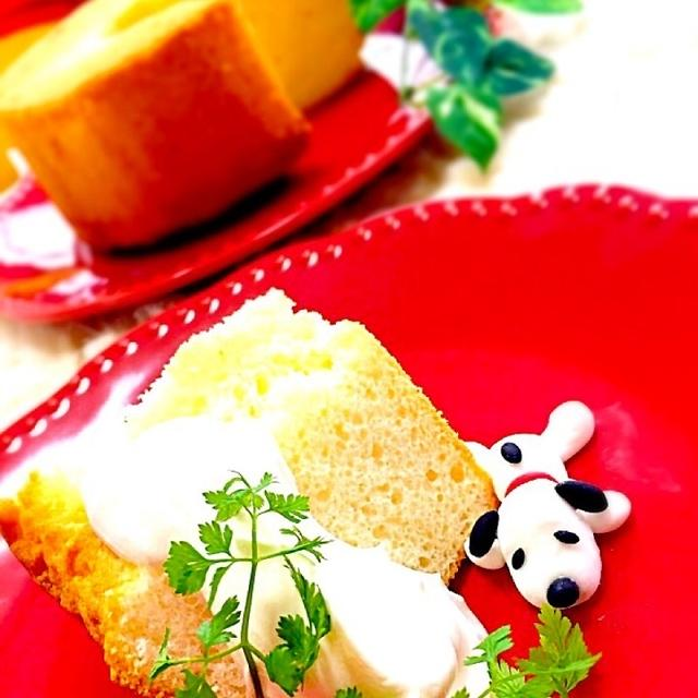 卵白消費 塩シフォンケーキ