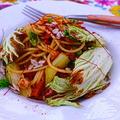 ★白菜と干しえびのスパゲティ。 by いもさん