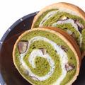 豆乳で作る!! 抹茶と、むき和栗のラウンドパン