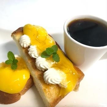 ダブルレモンクリームトーストと散歩とつぶやき